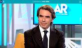 El ex presidente del Gobierno José María Aznar, en la entrevista...