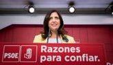 Esther Peña, portavoz del Comité Electoral del PSOE, en rueda de...