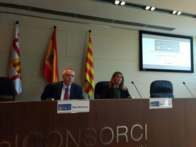 El delegado del Estado en el Consorcio de la Zona Franca, Pere Navarro, en la rueda de prensa