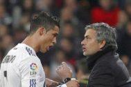 Cristiano Ronaldo y Jose Mourinho en la etapa de ambos en el Real Madrid