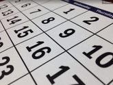 Imagen de un calendario para ilustrar el calendario laboral 2019 de...