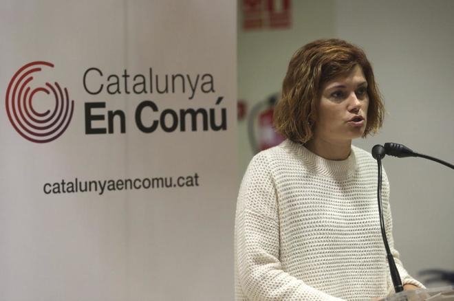 La diputada de Catalunya en Comú en el Parlament, y líder del sector díscolo de los 'comunes' Elisenda Alamany.