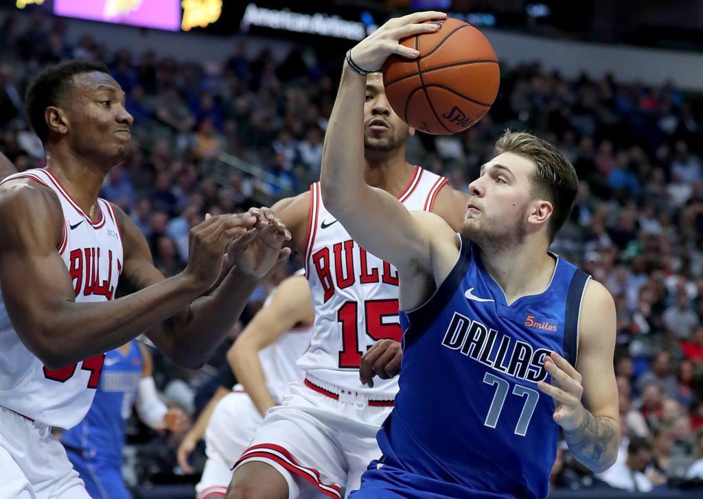 Luka Doncic, durante su partido ante los Chicago Bulls.