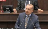 Erdogan, en el Parlamento de Ankara.