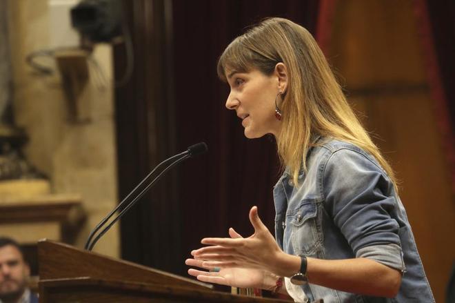 Jessica Albiach, en el Parlament