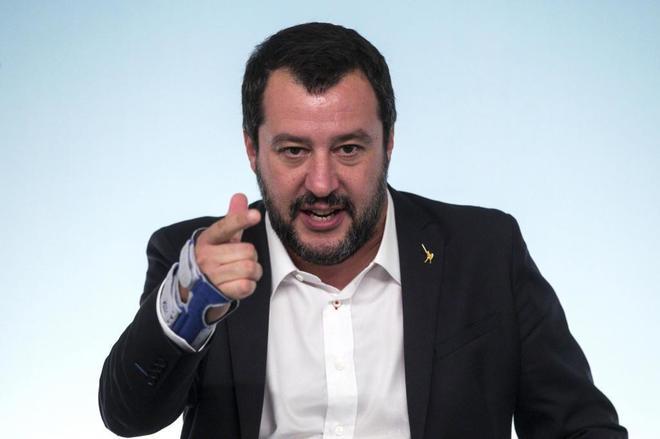 El vicepresidente y ministro de interior del Gobierno italiano, Matteo Salvini.