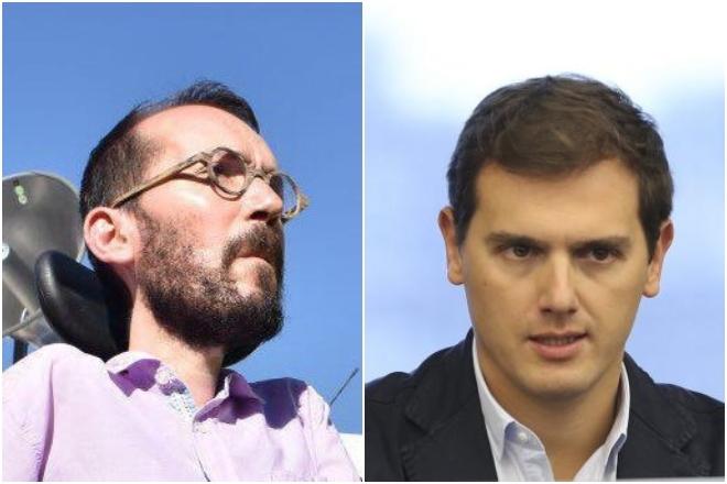 Pablo Echenique y Albert Rivera.