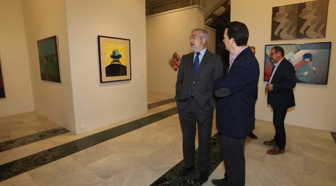 Manuel Chirivella Soriano, ayer, en la Sala San Miguel de la Fundación Caja Castellón.