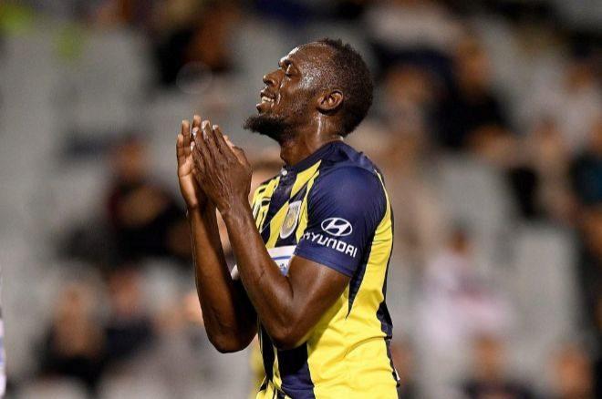 El jugador de los Mariners y ex atleta Usain Bolt.