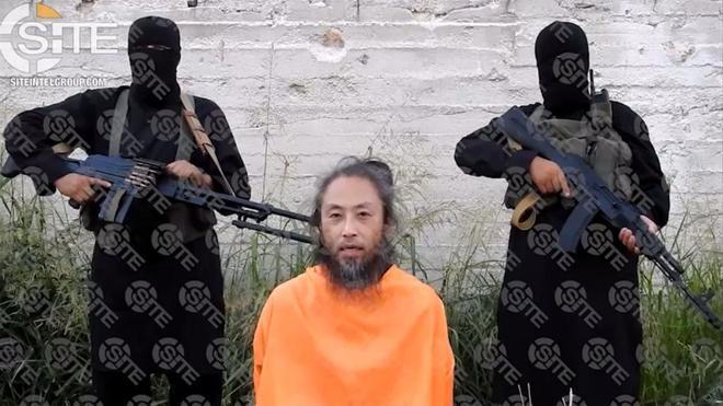 El periodista japonés Jumpei Yasuda suplica ayuda en un vídeo.