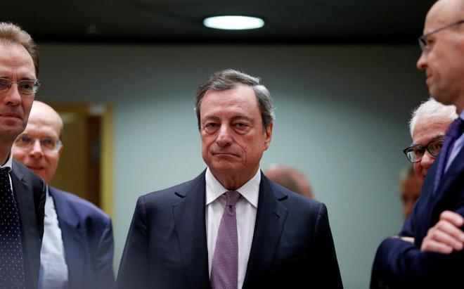 El presidente del Banco Central Europeo, Mario Draghi, en Bruselas.