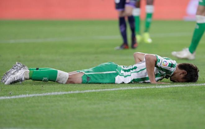 Inui se lamenta durante el partido del Betis ante el Valladolid, el pasado domingo.