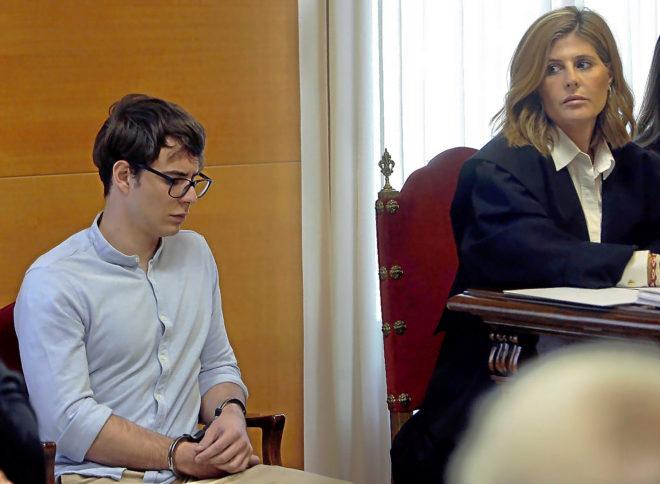 Patrick Nogueira, el asesino confeso del crimen de Pioz, en el juicio celebrado ayer en la Audiencia Provincial de Guadalajara