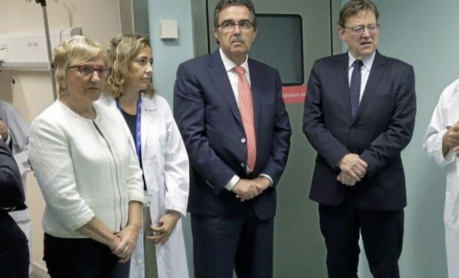 La consellera Ana Barceló junto al presidente Ximo Puig y el resto de...