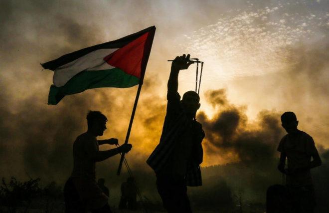 Protestas palestinas contra Israel.