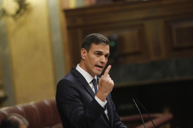 Pedro Sánchez, el miércoles, durante el Pleno celebrado en el Congreso de los Diputados.