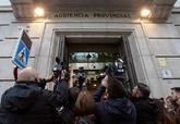 Fotógrafos y periodistas a las puertas de la Audiencia Provincial de...