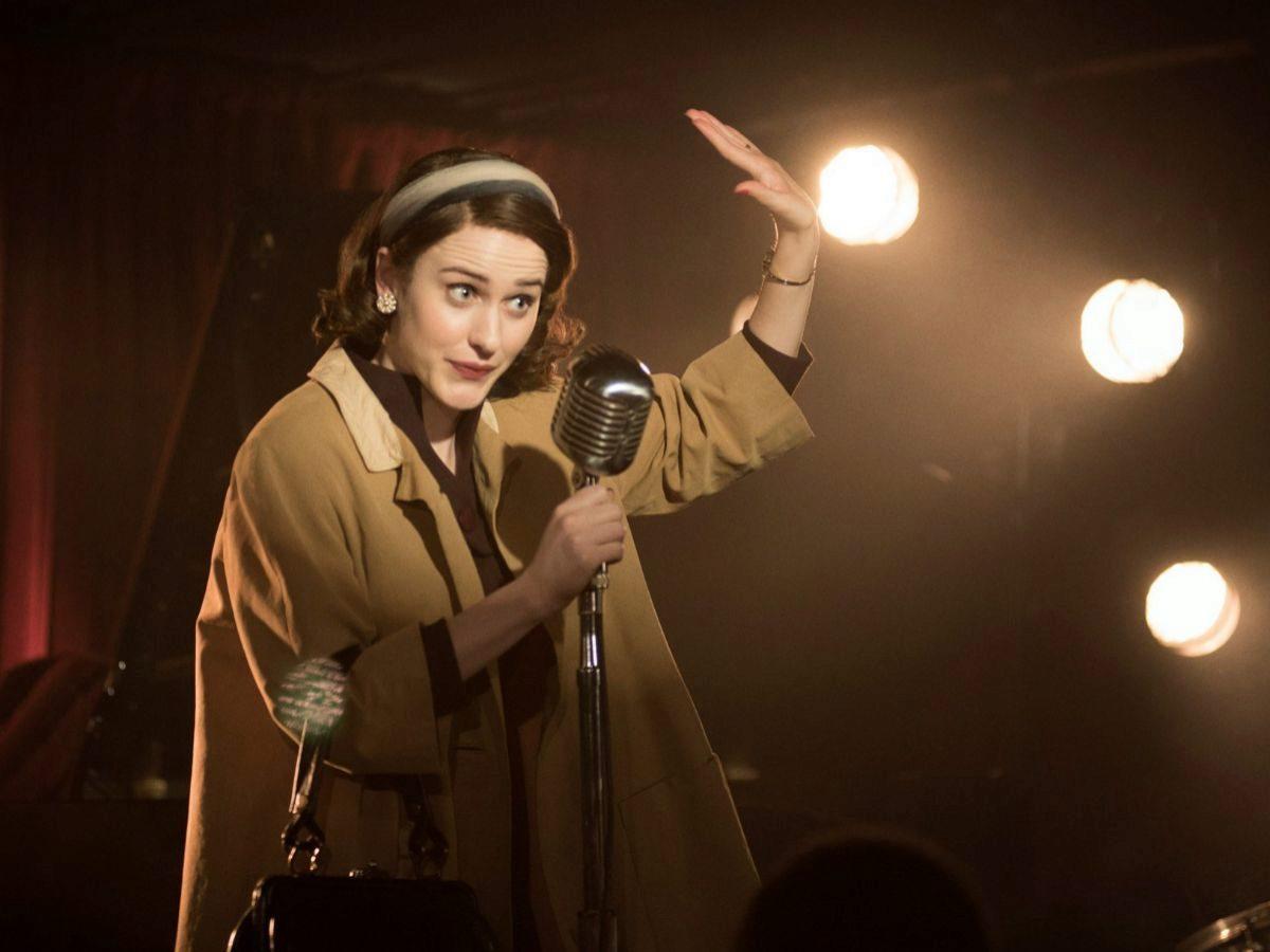 Rachel Brosnahan como  Midge Maisel durante un capítulo de 'The...
