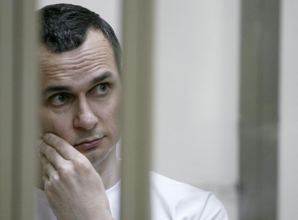 El director de cine ucraniano galardonado este jueves con el premio Sajarov, Oleg Sentsov.