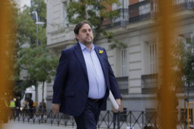 Oriol Junqueras entra en la Audiencia Nacional el 2 de noviembre de...