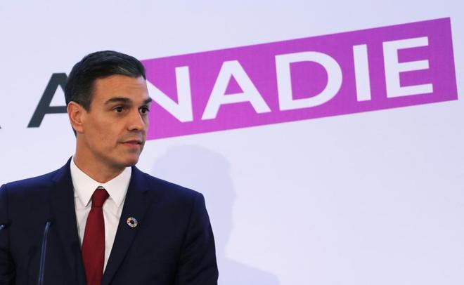 El presidente del Gobierno, Pedro Sánchez, durante un acto este...