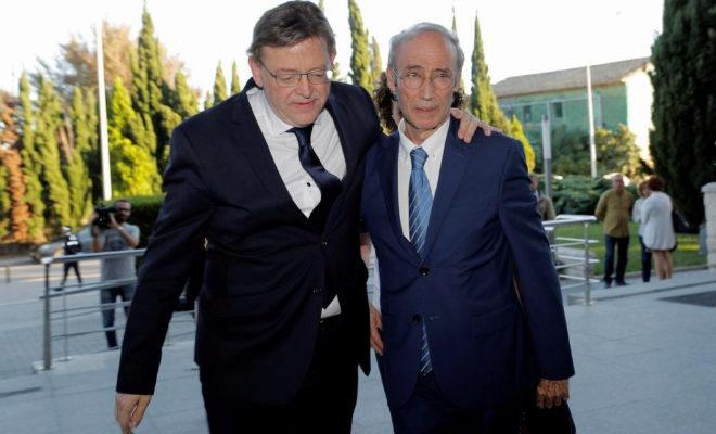 El presidente de la Generalitat, Ximo Puig, y el senador Cipriá Ciscar.