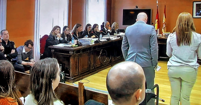 El hermano de Marcos declara en la Audiencia de Guadalajara por el crimen de Pioz en presencia del asesino, Patrick Nogueira