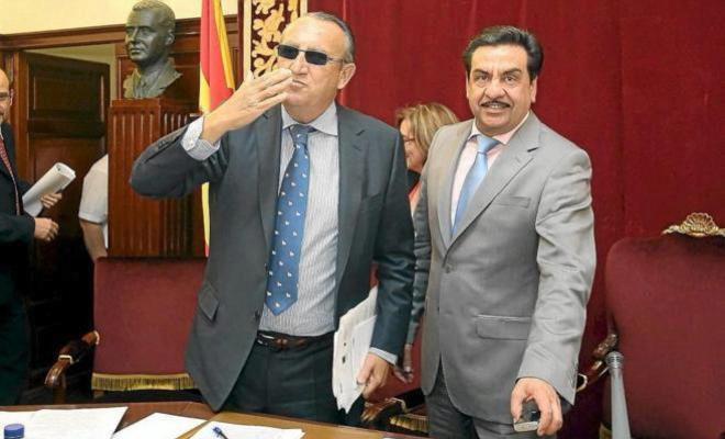 Carlos Fabra junto a su número dos Francisco Martínez, cuando eran los máximos mandatarios en la Diputación de Castellón.