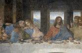 'La última cena', de Leonardo Da Vinci, con el apóstol Judas (a la...