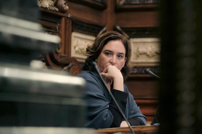 Ada Colau en el Pleno municipal en el Ayuntamiento de Barcelona Jordi  SoterasMUNDO 79c7d677efc70