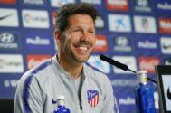 Diego Pablo Simeone, durante una rueda de prensa.