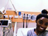 La gimnasta Simone Biles, en el hospital.