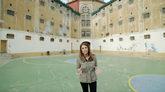 La reportera Ana Terradillos, en la cárcel Modelo de Barcelona, en el...