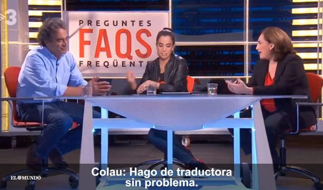 Entrevista en TV3 al alcalde de Medellín en el que la presentadora se negó a usar el castellano.