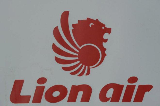 Imagen del logotipo de Lion Air, la mayor compañía aérea privada de Yakarta.
