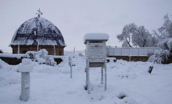 Imagen de Morella de la nevada de hace 10 años a finales de octubre que envió @MeteoMorella a la Aemet valenciana.