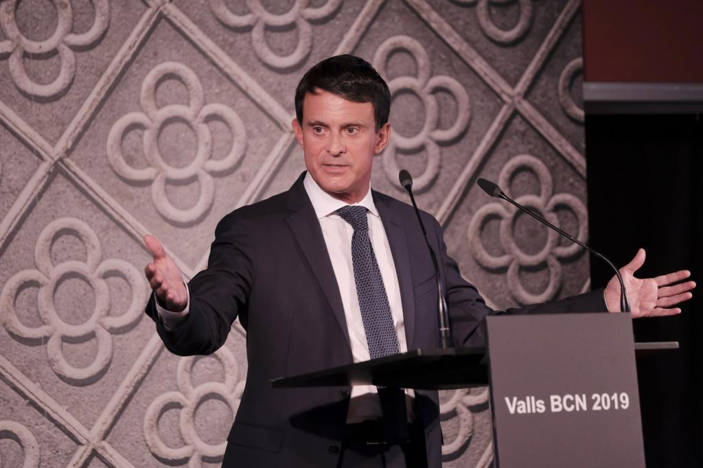El candidato a la alcaldía de Barcelona Manuel Valls.
