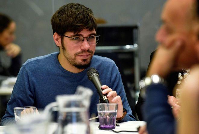 El secretario general de Podemos Euskadi, Lander Martínez.