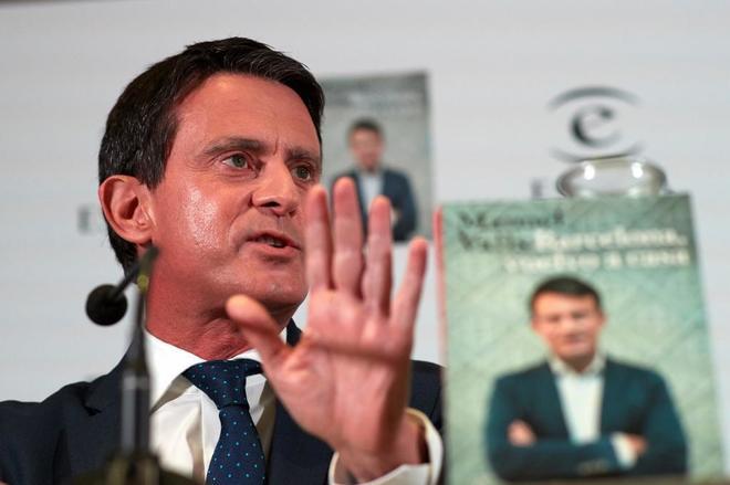 Manuel Valls, durante la presentación de su libro 'Barcelona, vuelvo...