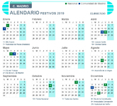 Calendario laboral Madrid 2019