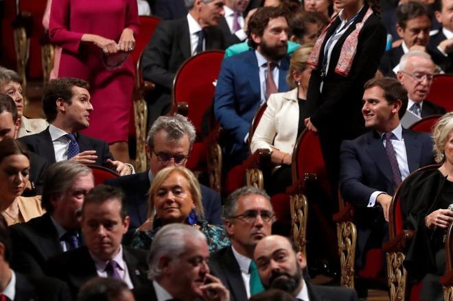 Albert Rivera y Pablo Casado, en la entrega de los Premios Princesa de...