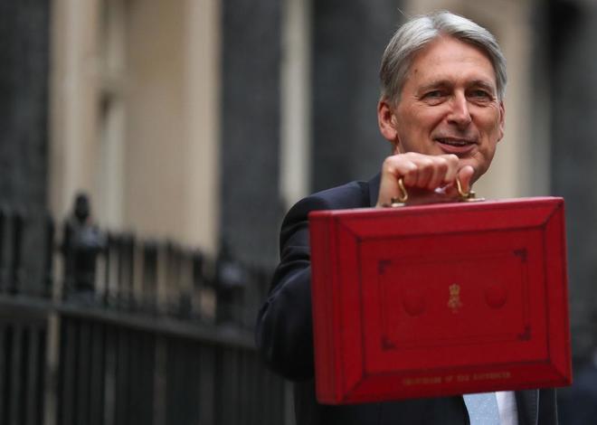 El Ministro de Hacienda británico, Philip Hammond, en Londres.