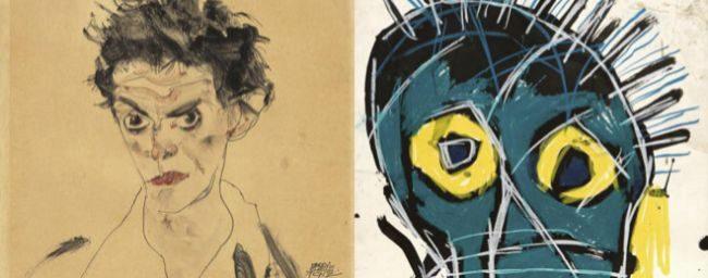 Egon Schiele y Basquiat: cometas paralelos en París