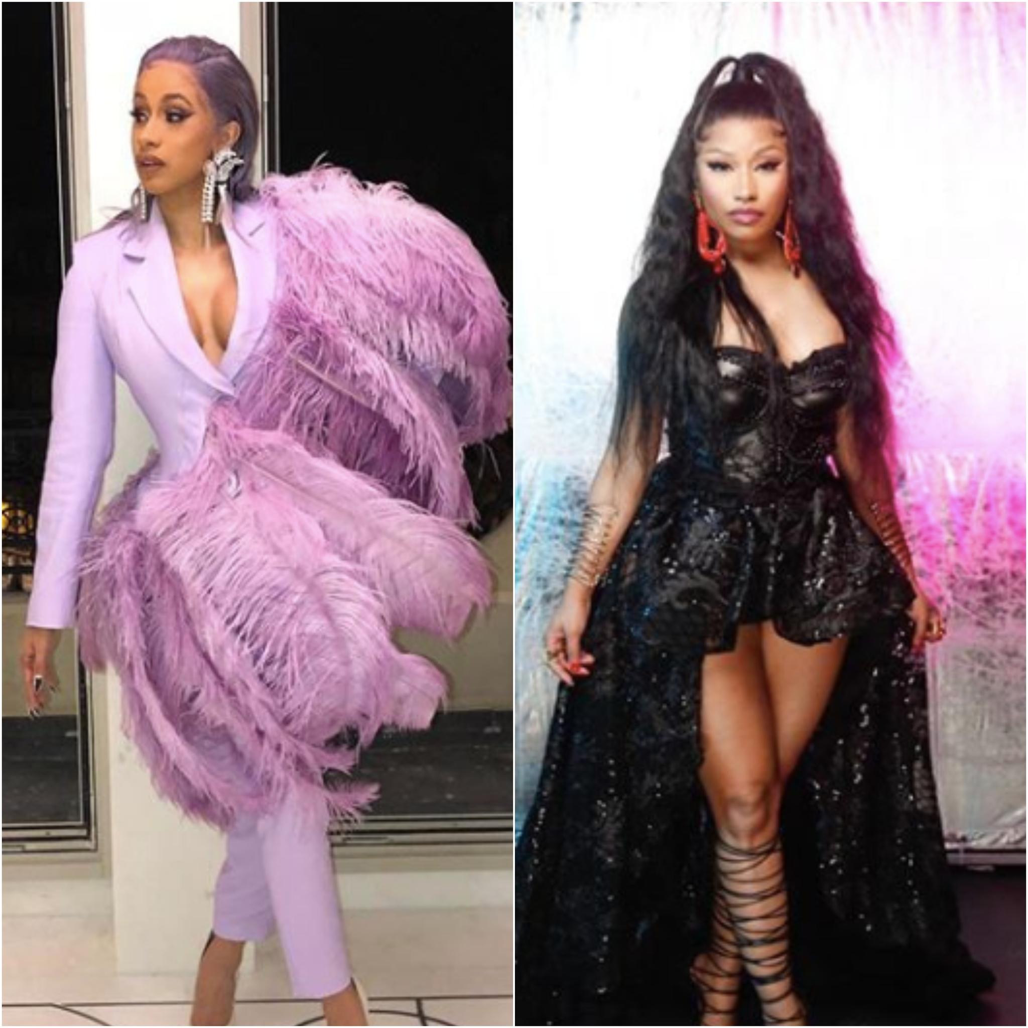 Las raperas Cardi B y Nicki Minaj.