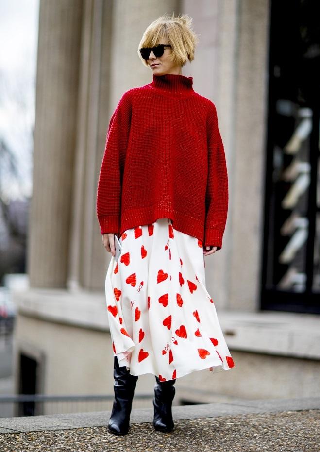 d9c5d9ffd Look' del martes: jersey de punto + falda 'midi'   Moda