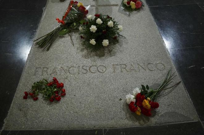 La tumba del dictador en el Valle de los Caídos.