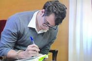 El asesino confeso del crimen de Pioz, Patrick Nogueira, durante el juicio