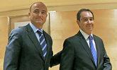 Miguel Sebastián junto a Pedro Luis Marín Uribe