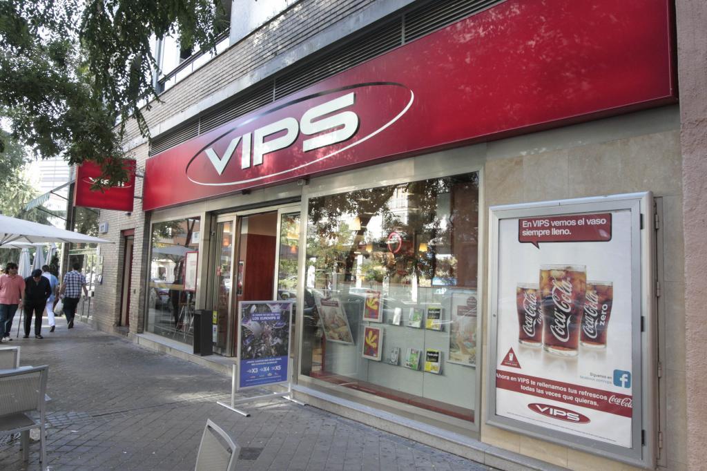 Imagen de una cafetería del grupo Vips.