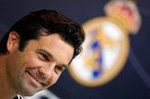 Santiago Solari, nuevo entrenador del Real Madrid, antes del partido...